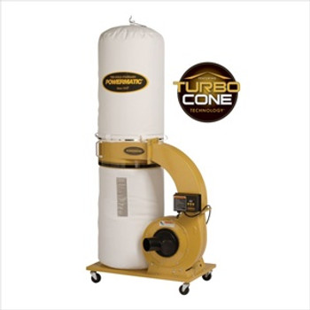 Powermatic PM1300TX-BK Dust Collector with 30-Micron Bag