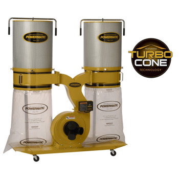 Powermatic PM1900TX-CK3 Dust Collector with 2-Micron Canister