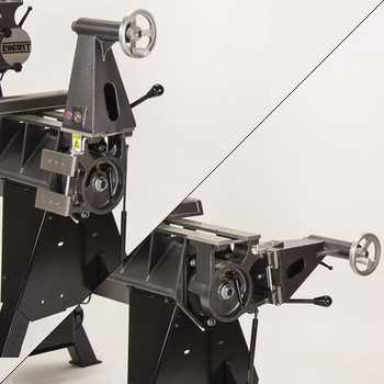 Robust Tailstock Tilt-away for American Beauty