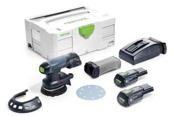 Festool 575715 ETSC125 Cordless/Corded Sander Plus