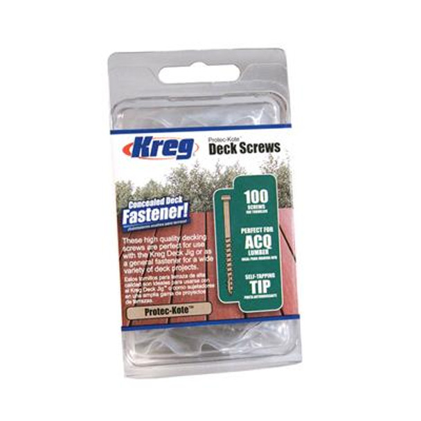 "Kreg Protec-Kote Deck Screw - 2"", #8 Coarse, Pan Head, 100ct"