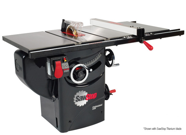 """Sawstop Professional Tablesaw PCS175 with 30"""" Premium Fence System"""