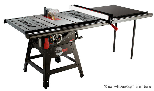 """Sawstop Contractor Tablesaw 1.75HP with 52"""" Pro T-Glide Fence System"""