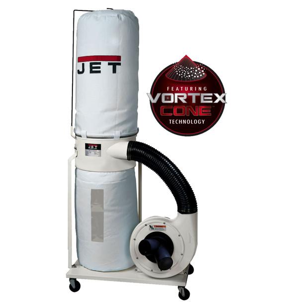 Jet DC-1200VX-BK1 Vortex Dust Collector 2HP 30-Micron Bag