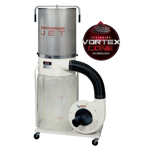 Jet DC-1200VX-CK1 Vortex Dust Collector 2HP 2-Micron Canister