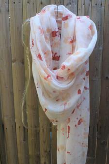 Hand Painted Cotton/Viscose Scarf/Wrap/Shawl - Autumn Breeze
