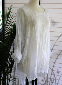 100% Cotton Freedom Top/Tunic - White Crinkle