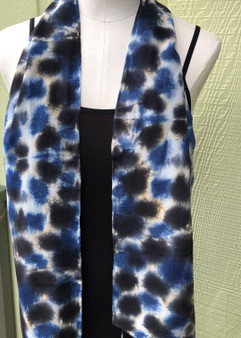 Hand Painted Silk Crepe de Chine Scarf - Cheetah