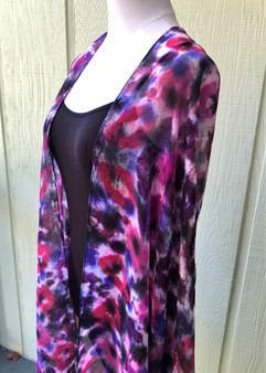 SOLD - 100% Silk Chiffon Hand Painted Scarf - Winter Berry