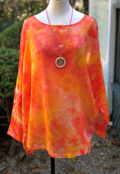 100% Cotton Freedom Top/Tunic  Hand Painted - Autumn