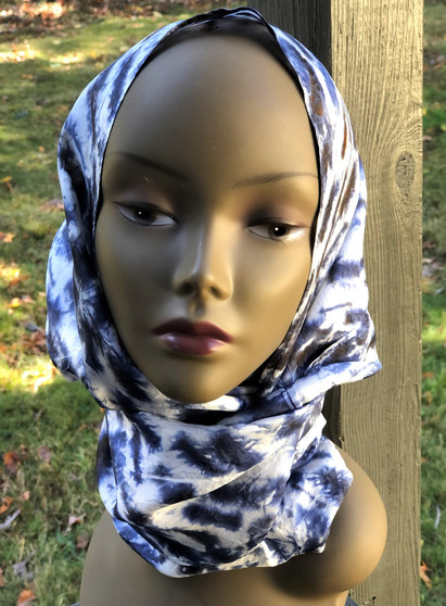 Circular/ Infinity Hand Dyed 100% Silk Scarf - Charcoal