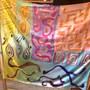 SOLD Charmeuse Silk Scarf  Hand Painted - Abstract