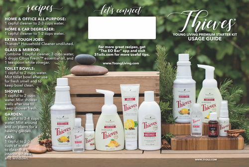Young Living ® Premium Starter Kit Usage Guide Minis
