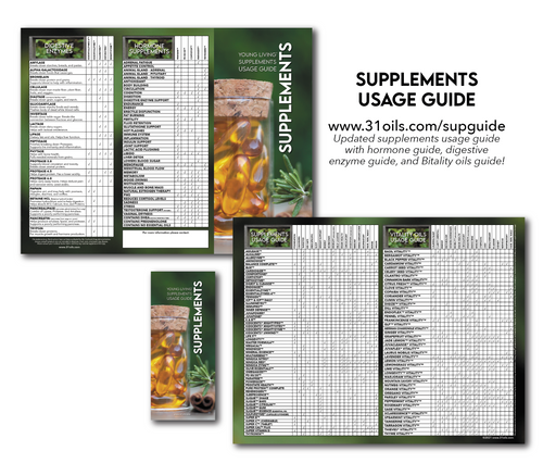 Supplements Usage Guide Brochures (20 PACK)