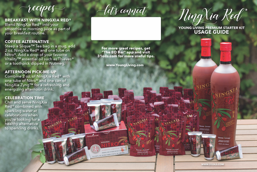 Young Living ® NingXia Red Premium Starter Kit Usage Guide Minis