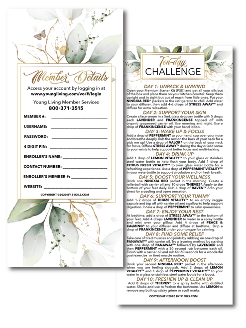 NEW Plant Design New Member Challenge Cards (25 Pack)