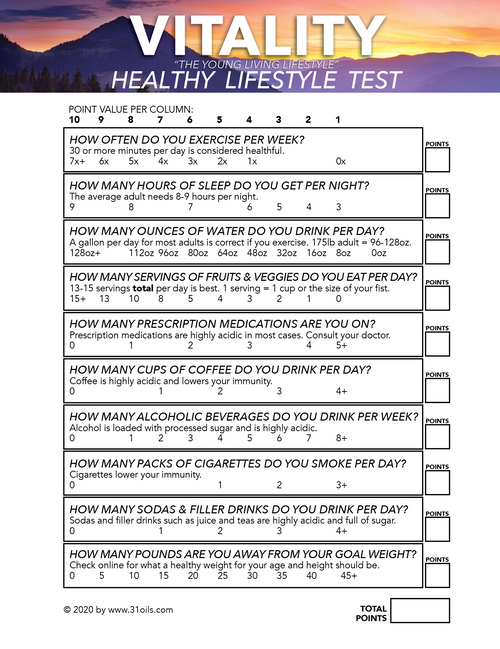 Free Download - Vitality Test for Classes