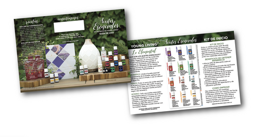 Young Living ® Spanish Essential Oils Premium Starter Kit Usage Guide Minis