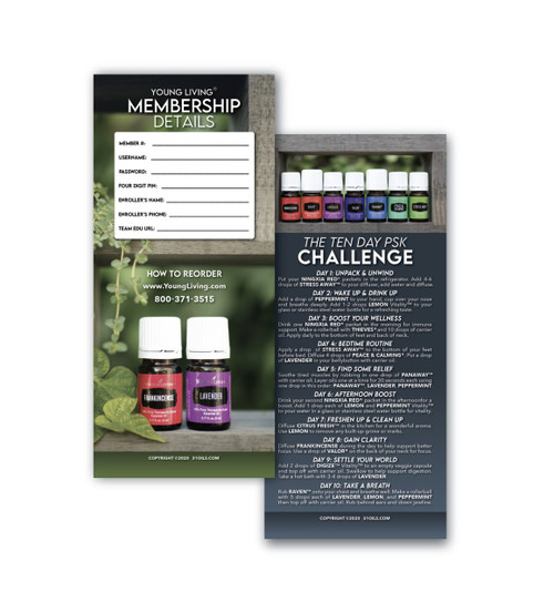 Ten Day Challenge & New Member Cards (20 Pack)