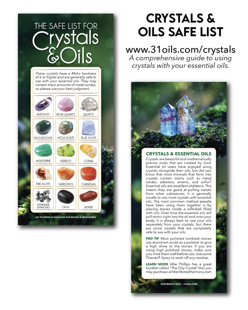 Safe List for Crystals and Oils Cards (20 Pack)