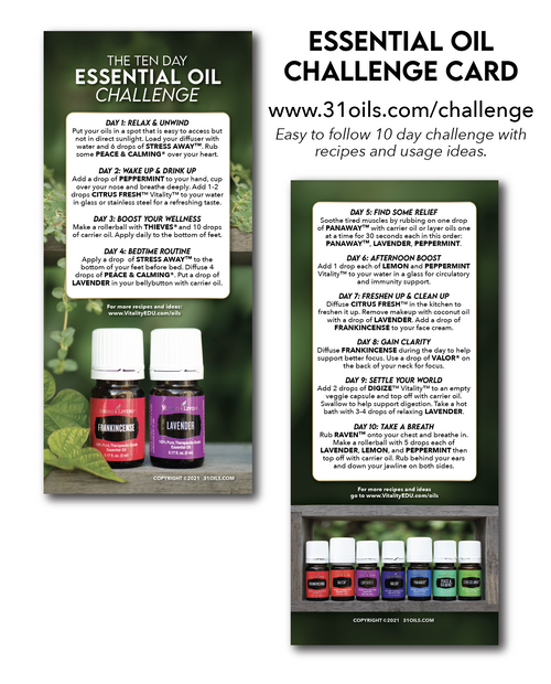 Essential Oil Challenge Cards (20 Pack)