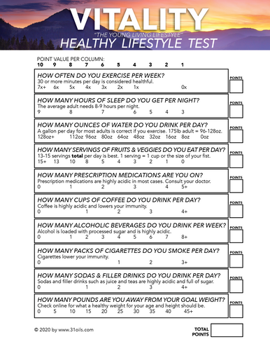 Free Download Vitality Healthy Lifestyle Analysis