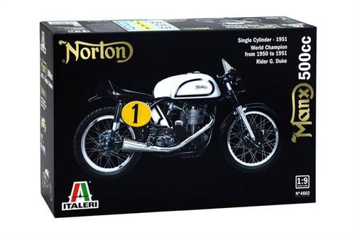 Italeri 4602 1/9 1951 Norton Manx 500cc Motorcycle Plastic Model Kit Box