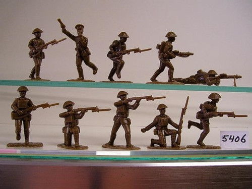 Armies In Plastic 5406 1/32 WWI British Army in Steel Helmets Toy Soldiers a