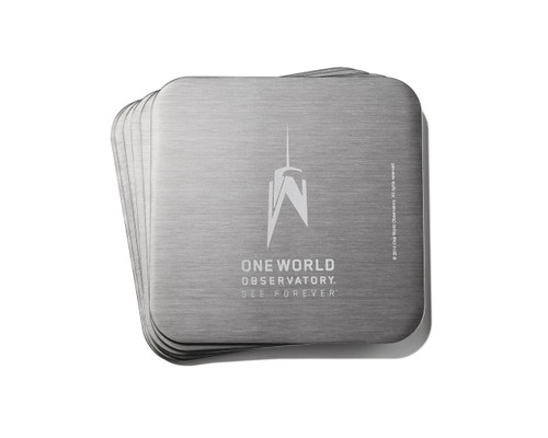One World Observatory Franklin Mint Coasters
