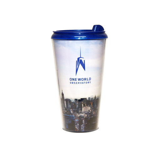 One World Observatory Blue Tumbler
