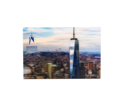 One World Observatory Lenticular Postcard
