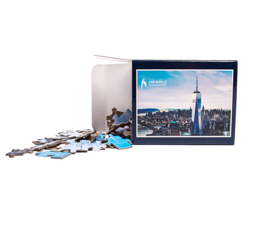 One World Observatory Puzzle in a Box Dark Blue
