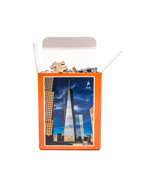 One World Observatory Puzzle in a Box Orange