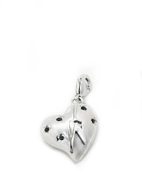 One World Observatory Heart Charm with crystals from Swarovski