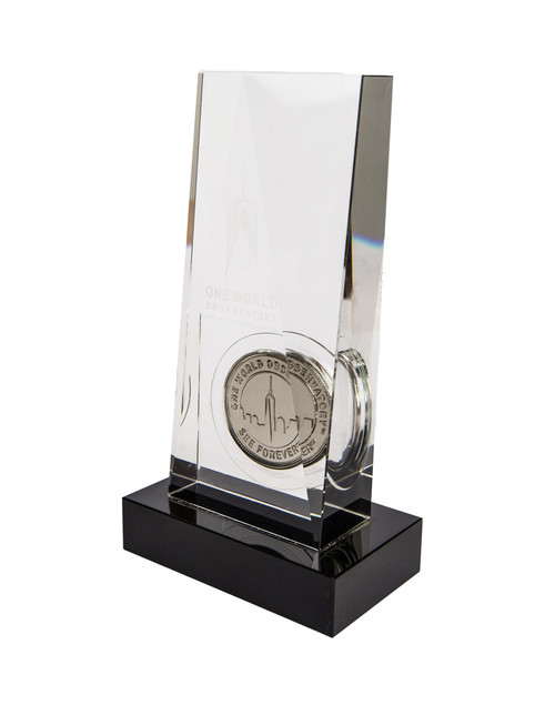 One World Observatory Commemorative Coin in Crystal