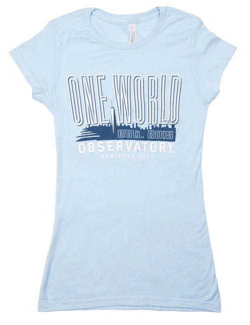 One World Observatory Ladies Deluxe NYC Tee
