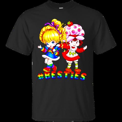 Favorable #Besties Robot Brite And Strawberry Shortcake Shirt T-Shirt