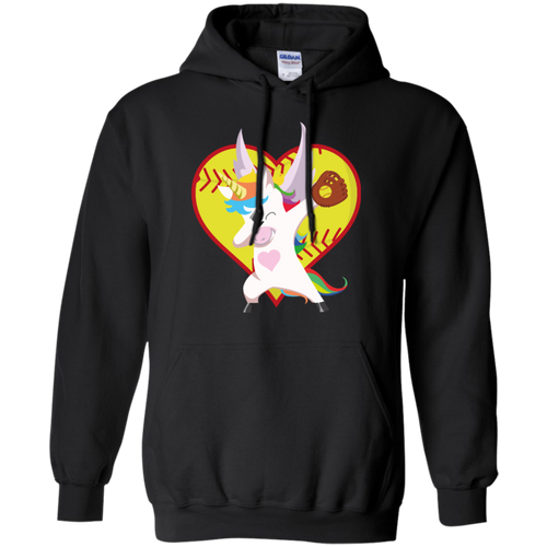 Funny Dabbing Unicorn Softball T-Shirt Dab Gift Pullover Hoodie