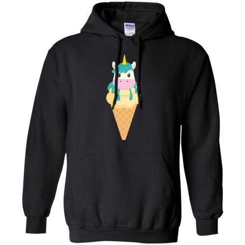 Unicorn Ice Cream Cone for Ice Cream Lovers Pullover Hoodie