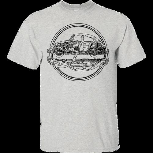 2 Pieces of volkswagen beetle t-shirt