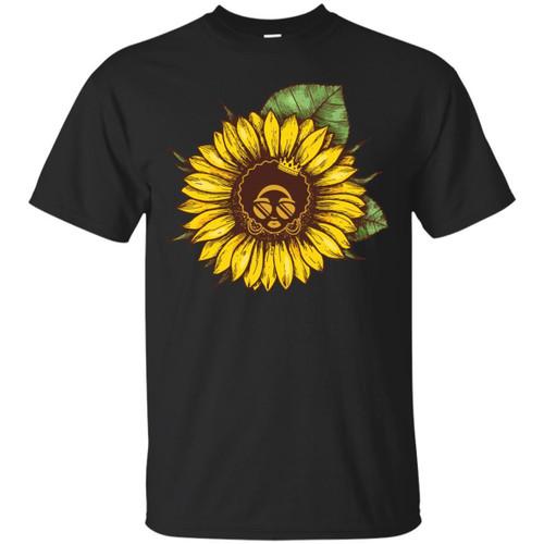 Beautiful Sun Flower T-shirt for Black Queens