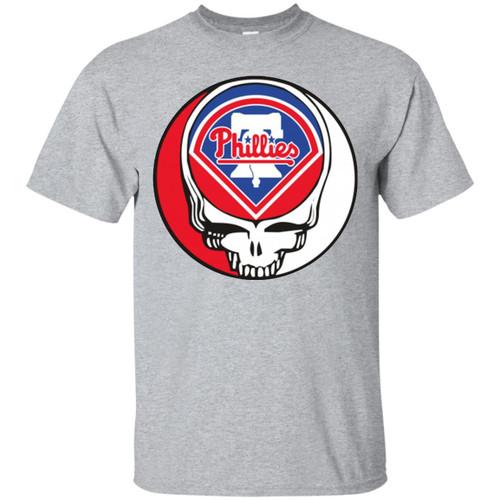 Mlb - Philadelphia Phillies Grateful Dead Steal Your Face Baseball Mlb White Shirts