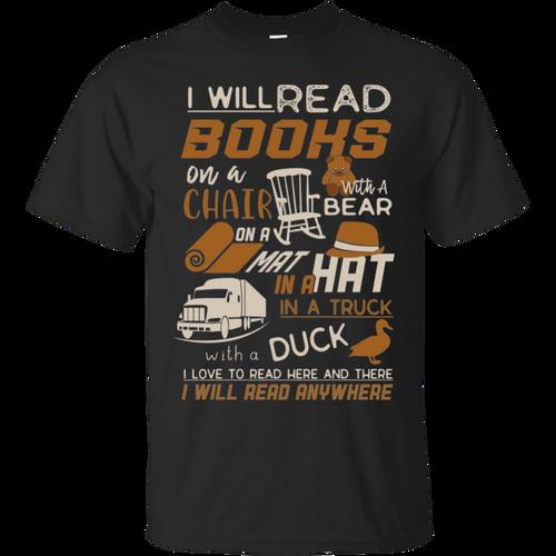 Reading Books I Will Read Books Shirt