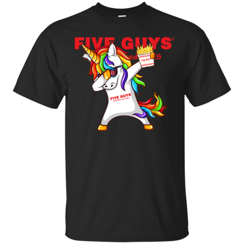 Excellent Dabbing Unicorn Loves Five Guys T shirt hoodie sweater