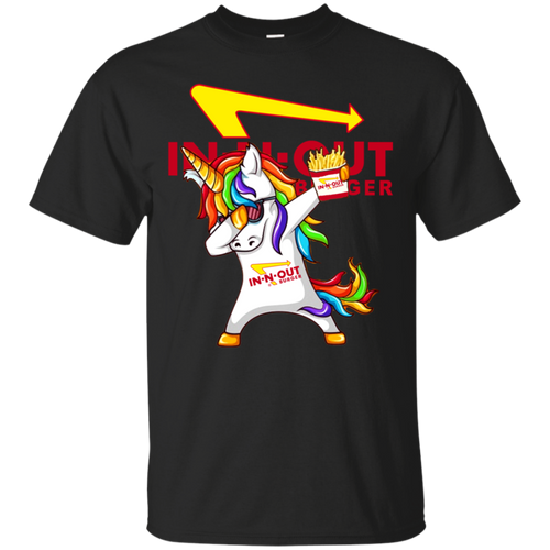 Fantastic Dabbing Unicorn Loves In-N-Out Burger T shirt hoodie sweater