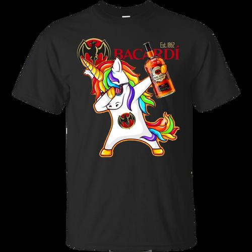Fantastic Dabbing Unicorn Loves Bacardi Rum T shirt hoodie sweater