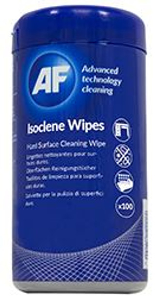 AF Isoclene Anti-Bacterial Office Wipes Tub of 100