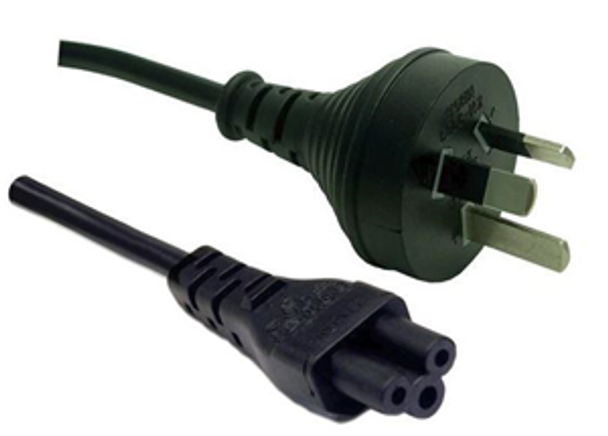 3 Pin Power Lead (M) to C5 Clover (M) 2m Power Cable - Bulk