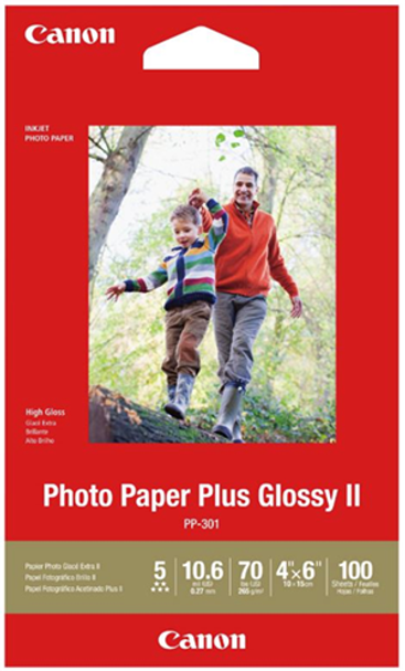 Canon PP-301 4x6 Glossy II 275gsm Photo Paper - 100 Sheets