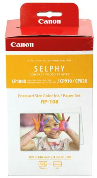 Canon RP-108 Selphy 6x4 Photo Paper & Ink Kit - 108 Sheets